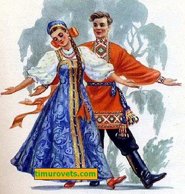 Russian national costume (photo)