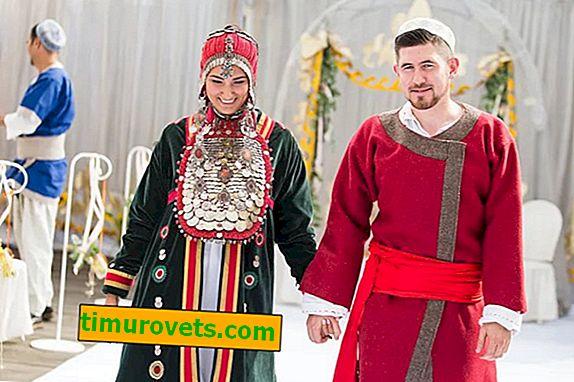 Bashkir bryllupsdragt