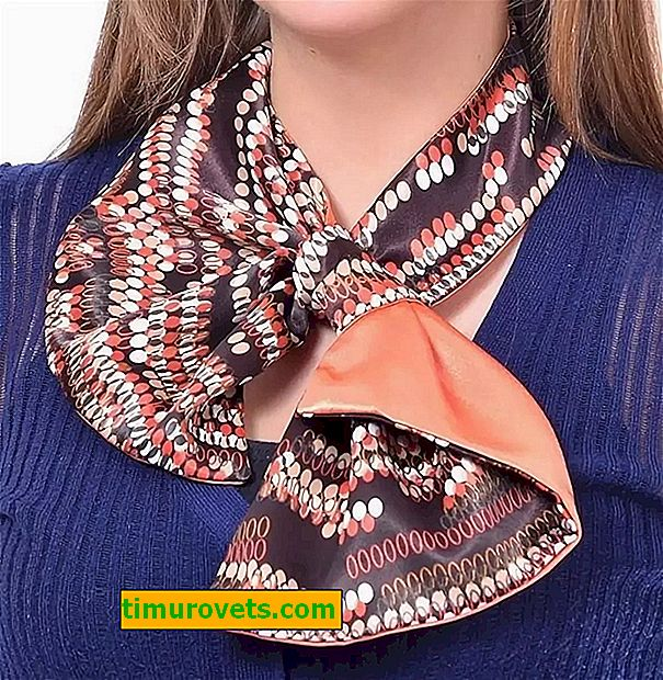 French scarf: pattern and sewing