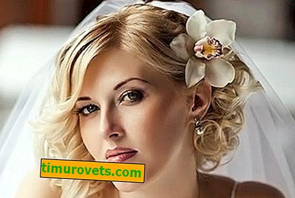 Poročne pričeske s srednje lasmi
