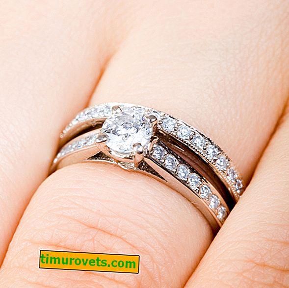 Kako skupaj nositi zaročni in zaročni prstan