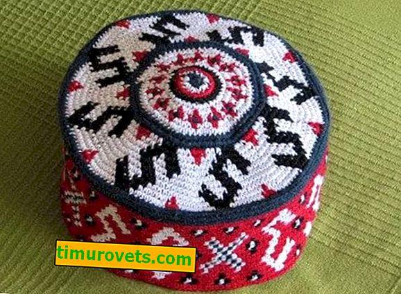Men's crochet skullcap (diagram and description)