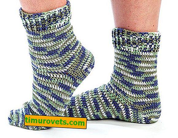 Плетене на една кука мъжки чорапи
