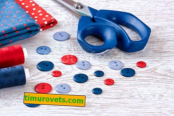 Kako šivati gumb z dvema luknjama?