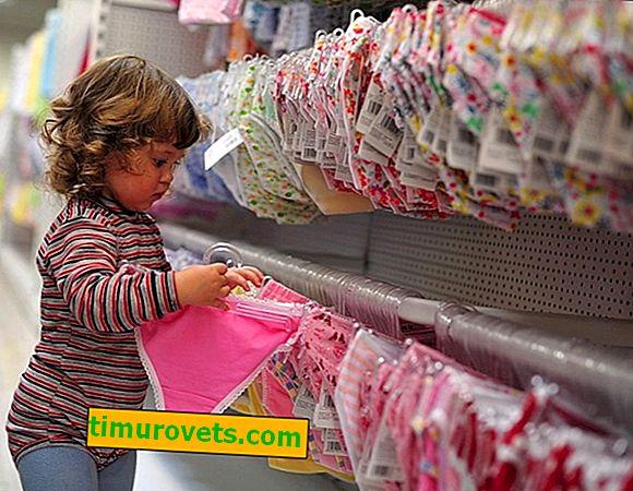 Tableau de taille des sous-vêtements pour enfants