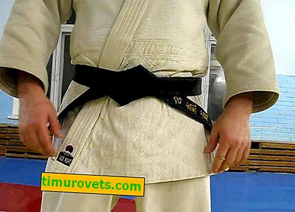 Bir kimono, el ele mücadele üzerinde bir kemer nasıl bağlanır.