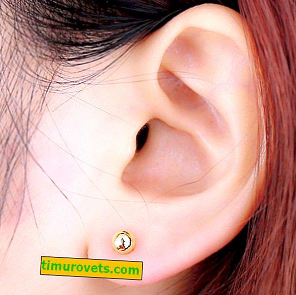 Ører fra øreringer har vondt