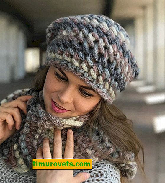 Crochet hat made of thick yarn