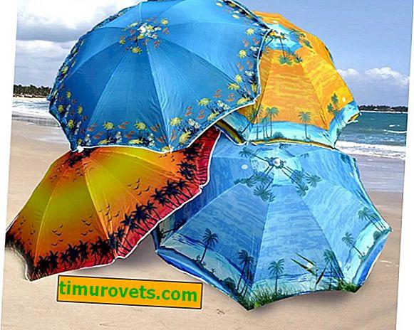 Sådan vælges en parasol: til stranden, til landet, for en tur