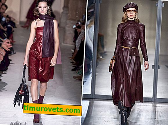 Leather dress - fashion trend of fall-2019
