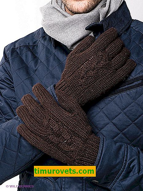 Мъжки ръкавици: плетене и плетене на една кука