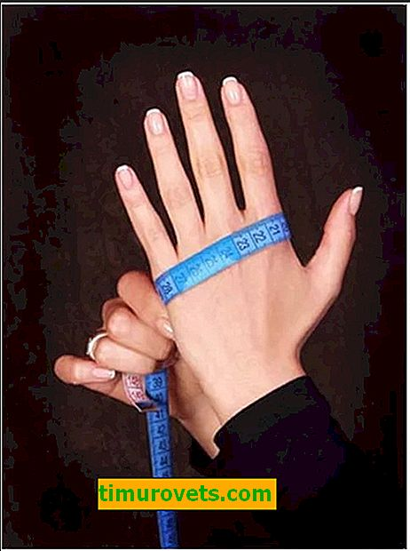 Размер на женски ръкавици (маса)