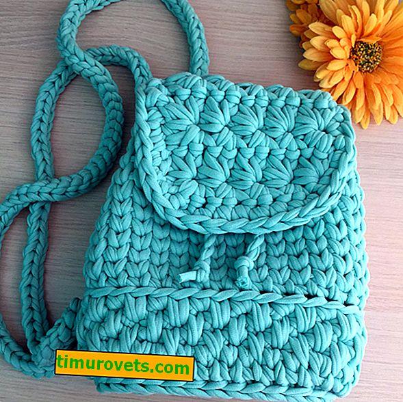 Háčkovaný batoh pro dívky