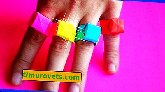Kako napraviti prsten od papira