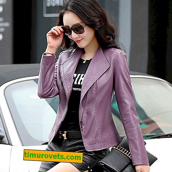 De quoi porter une veste en cuir pour femme (photo)?