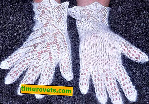 Ажурни ръкавици плетене на една кука и плетене: диаграми и описание