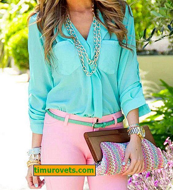 Jaké barvy nosí tyrkysové oblečení?