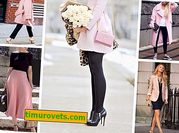 The combination of pink and black in clothes - the basic rules