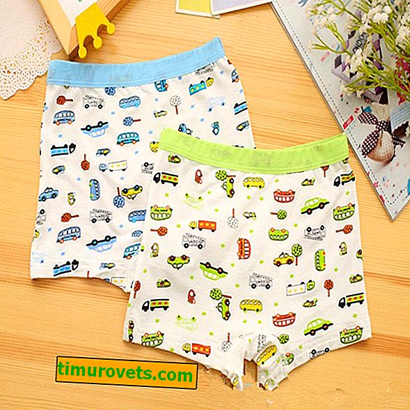 Pattern of underpants for a boy