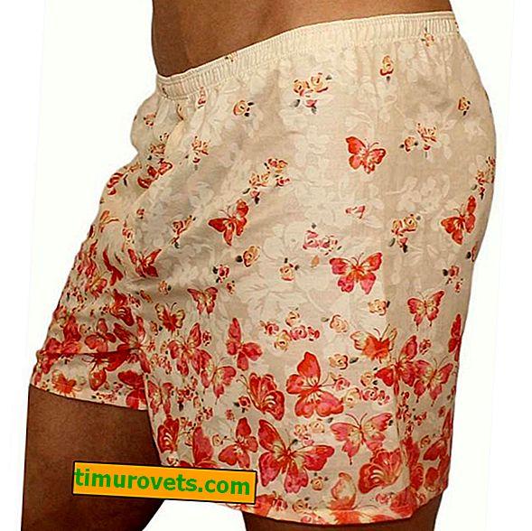 Pattern of men's underpants