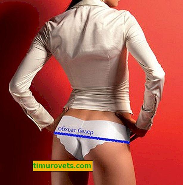 Taglia delle mutande da donna: tabella
