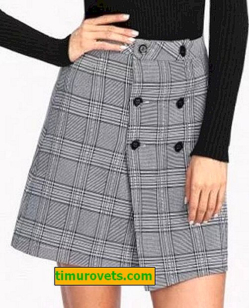 What to wear with a gray check skirt?