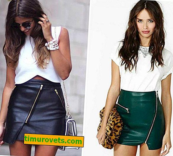 Que porter avec une jupe en éco-cuir?