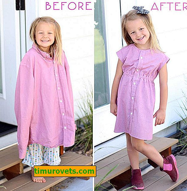 How to turn daddy's shirt into a daughter's dress