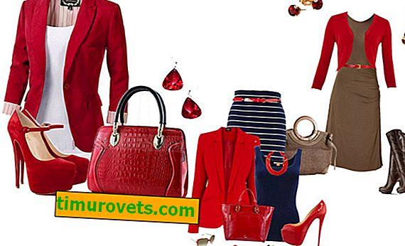 Aké farby sú kombinované s červenou farbou oblečenia