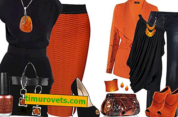 Welche Farben werden in Kleidern mit Orange kombiniert?