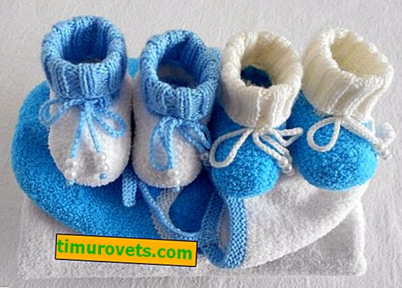 Knitted plush yarn booties