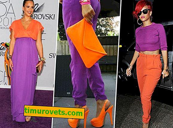 Какъв цвят се комбинира с лилаво в дрехите?
