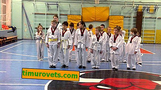 Hoe een gele strook op een taekwondo-riem te naaien?