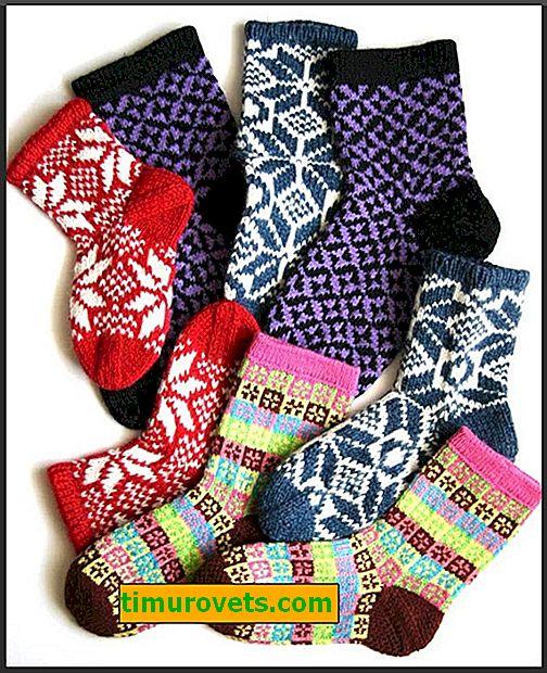 Krásné vzory pro pletení ponožek s pletacími jehlami