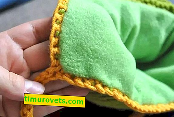 How to sew fleece to a knitted hat