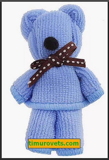 Kako napraviti medvjeda iz ručnika?
