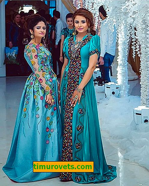 Стилове на туркменски рокли