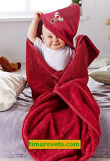 Kako šivati brisačo s kapuco za otroka