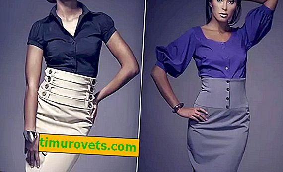Como usar uma saia de cintura alta?