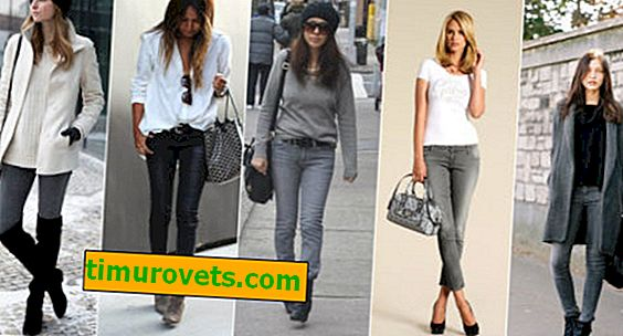 What to wear with gray women's jeans?