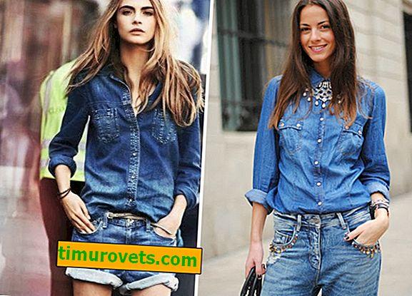 Wie trage ich ein Damen Jeanshemd?