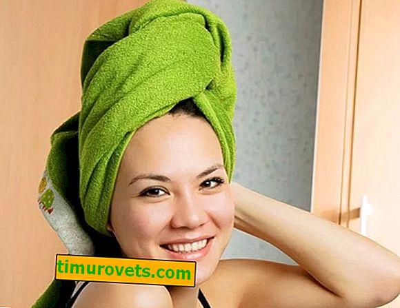 Kako vezati brisačo na glavi?