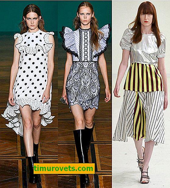 Hvordan foreslår designere å blande utskrifter i dameklær i 2019?