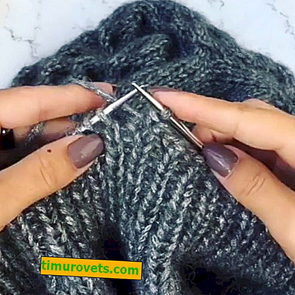 How to hide threads when knitting