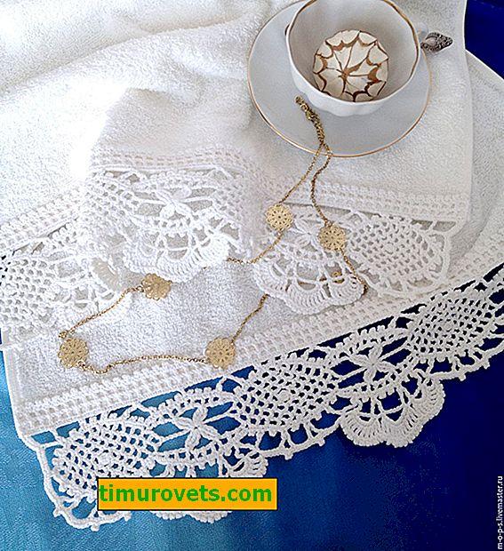 Obroček za kvačkanje brisač, sheme