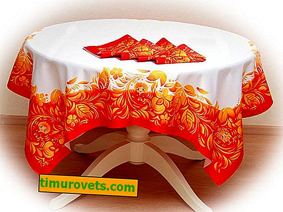 How to sew a tablecloth on a round table