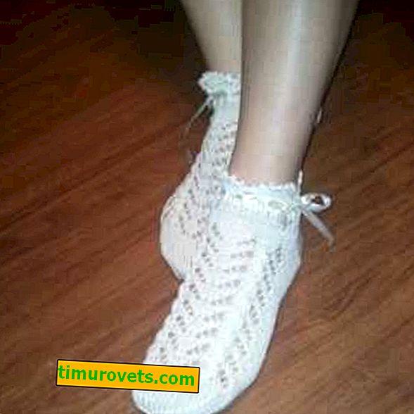 Háčkované ponožky ze síťoviny
