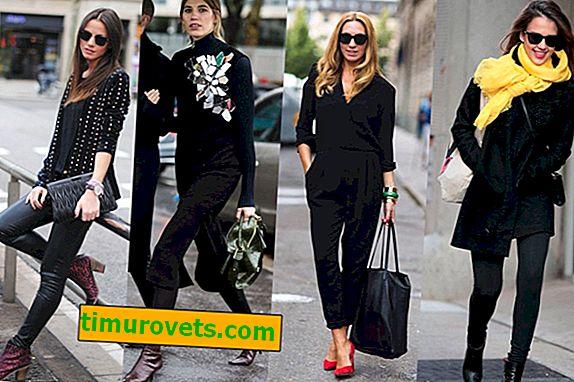 Тотално черно: как да се носят, за да не изглеждат печално
