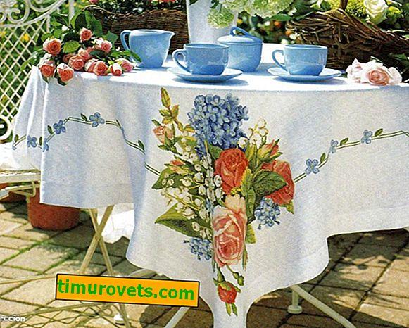 Kanaviçe işi masa örtüleri: desenler