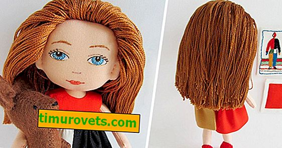 How to make a doll hair from threads